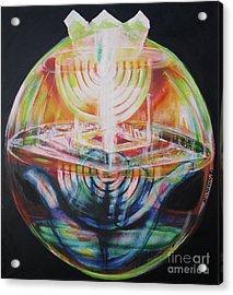 Tzimtzum Contraction Of Creation Acrylic Print by Yael Avi-Yonah