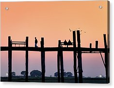 U-bein Bridge At Dawn Acrylic Print