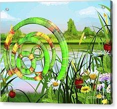U F O In A River Art Acrylic Print