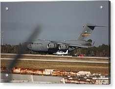 Acrylic Print featuring the photograph U S Airforce Plane by Michael Albright