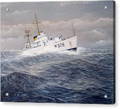 U. S. Coast Guard Cutter Halfmoon Acrylic Print by William H RaVell III