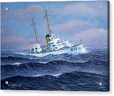 U. S. Coast Guard Cutter Owasco Acrylic Print by William H RaVell III