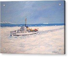 U. S. Coast Guard Icebreaker Northwind Acrylic Print by William H RaVell III