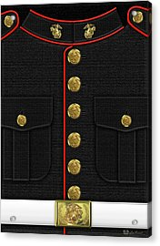U S M C Dress Uniform Acrylic Print