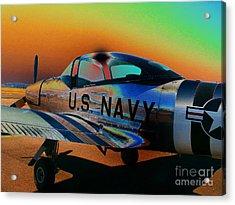 U S Navy  Acrylic Print by Diane E Berry