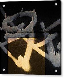 U Turned Away Acrylic Print by Empty Wall