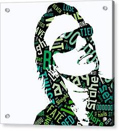 U2 Bono With Or Without You Acrylic Print