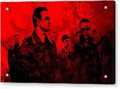 U2 Rock On Acrylic Print by Brian Reaves