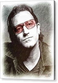 U2's Bono Acrylic Print by Elaine Manley