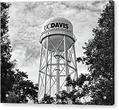 Uc Davis Water Tower Acrylic Print by Alessandra RC