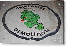 Udt Frogman Flag Acrylic Print by Lynda Dawson-Youngclaus