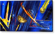 Acrylic Print featuring the painting UFO by Arturas Slapsys