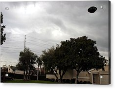 Ufo Over My Neighborhood  Acrylic Print by Michael Ledray