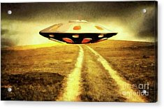 Ufo Over Path Acrylic Print