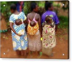 Uganda Mamma's And Bubba's All In A Row Acrylic Print