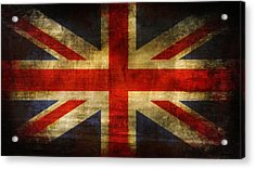 Uk Flag Acrylic Print by Brett Pfister