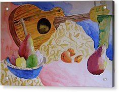 Acrylic Print featuring the painting Ukelele by Beverley Harper Tinsley