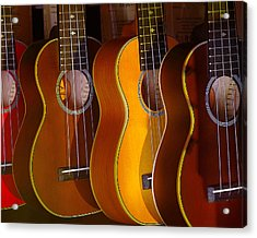 Acrylic Print featuring the photograph Ukes by Jim Mathis