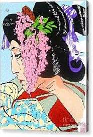 Acrylic Print featuring the painting Ukiyo Sekai Ichi  by Roberto Prusso