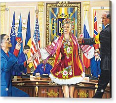 Ukraine The Unfortunate Bride Acrylic Print