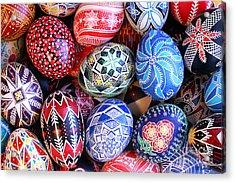 Ukrainian Easter Eggs Acrylic Print by E B Schmidt