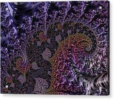 Ultra Leaf Spiral Acrylic Print