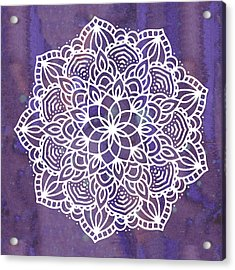Acrylic Print featuring the digital art Ultraviolet Mandala by Bee-Bee Deigner