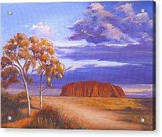 Uluru  - Ayers Rock Acrylic Print by Robynne Hardison