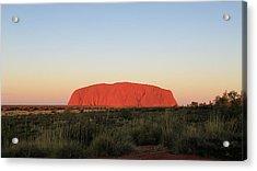 Uluru At Sunset Acrylic Print
