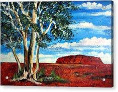 Acrylic Print featuring the painting Uluru Ayers Rock by Roberto Gagliardi