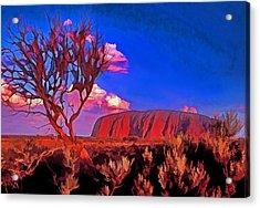 Uluru Acrylic Print by Dennis Cox WorldViews