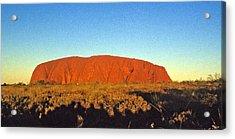 Acrylic Print featuring the photograph Uluru by Gary Wonning