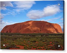 Uluru Acrylic Print by Pamela Kelly Phillips