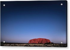 Acrylic Print featuring the photograph Uluru Starry Night by Chris Cousins