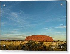 Acrylic Print featuring the photograph Uluru Sunset 01 by Werner Padarin