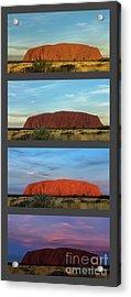 Acrylic Print featuring the photograph Uluru Sunset by Werner Padarin
