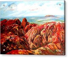 Uluru Viewed From Kata Tjuta Acrylic Print