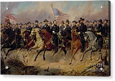Ulysses S Grant And His Generals Acrylic Print