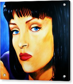 Uma Thurman In Pulp Fiction Acrylic Print