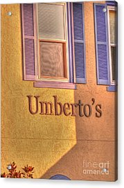 Umbertos Acrylic Print by David Bearden