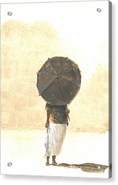 Umbrella And Fish Two Acrylic Print by Lincoln Seligman