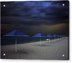 Umbrella Blues Acrylic Print by Aydin Aksoy