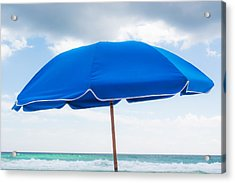 Umbrella On The Beach Acrylic Print by Shelby  Young