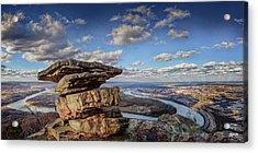 Umbrella Rock Overlooking Moccasin Bend Acrylic Print