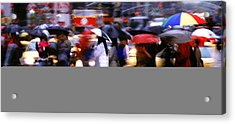 Umbrellas Acrylic Print by Brad Rickerby