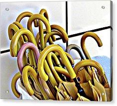 Umbrellas Acrylic Print by Helaine Cummins