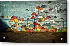 Umbrellas  Acrylic Print by Matthew Ahola