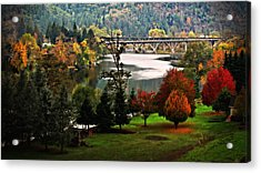 Umpqua Bridge In The Fall Acrylic Print by Katie Wing Vigil