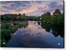 Umpqua River At Sunset Acrylic Print by Greg Nyquist