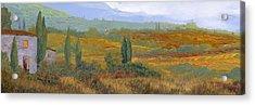 un altro pomeriggio in Toscana Acrylic Print by Guido Borelli